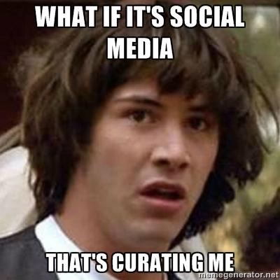 social media curating me